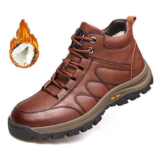 YQSHOES Zapatos De Algodón Invierno, Zapatos De Lana Abrigados Para Hombres, Botas...