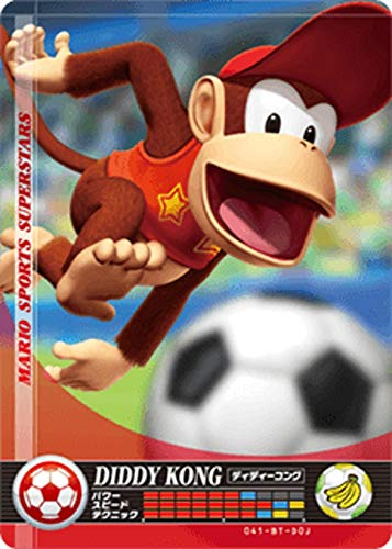 Nintendo Mario Sports Superstars Amiibo Card Soccer Diddy Kong for Nintendo Switch, Wii U, and 3DS