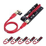 HONEYWHALE PCIE Riser 1x to 16x Graphic Extension for Bitcoin GPU...
