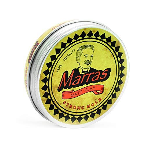 Marras Matt Clay Strong Hold - Haarwachs Matt/Pomade mit dezentem Lemon Duft auf Wasserbasis- leicht Auswaschbar – für alle Haartypen geeignet – einfache Handhabung – kein ausgetrocknetes Haar mehr