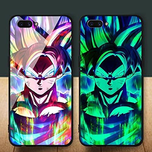 Anime Resplandor De La Noche Funda para Teléfono con Cordón Funda Protectora para iPhone Superficie De Vidrio Templado Antifricción Dragon Ball Trend Series (Compatible con Iphone11)