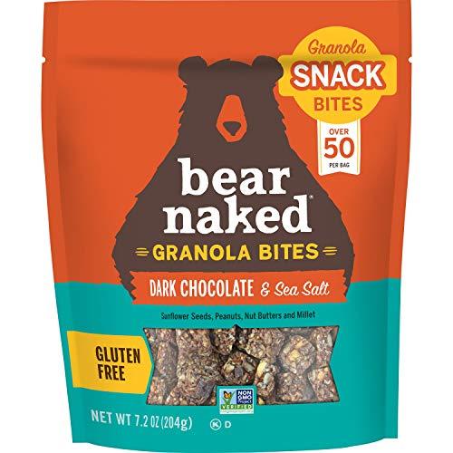 Bear Naked, Granola Bites, Dark Chocolate and Sea Salt, Vegan and Gluten Free Snacks, 7.2oz Bag