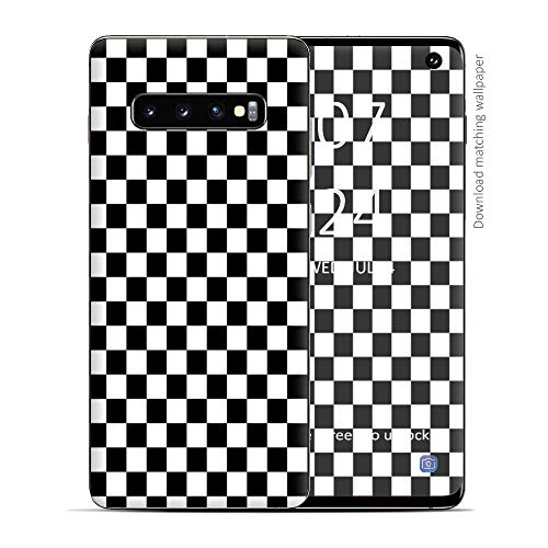Skin Decal Vinyl Wrap for Samsung Galaxy S10 - Decal Stickers Skins Cover - Checkerboard, Checkers