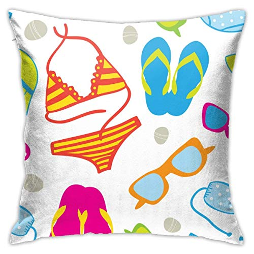 AEMAPE Bikini Establece patrón Funda de Almohada Funda de cojín Cuadrado sofá casero Decorativo 40x40 cm