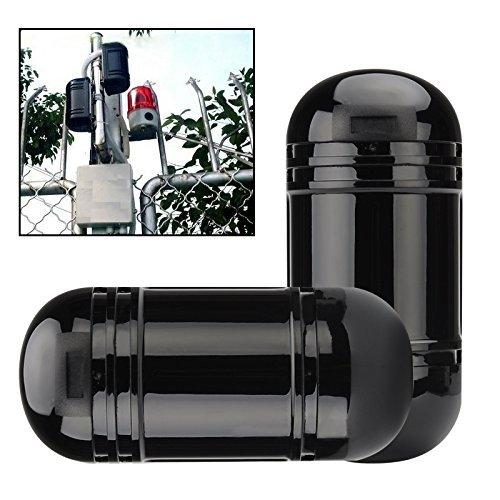 Doble haz intruso Detector y alarma–BW haz de doble de seguridad Active Detector de infrarrojos al aire libre 60m interior 180m Rango de detección, difusión del haz de 1,5m, ajuste óptico