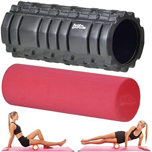 Just be... Muscle Point 2 en 1 - Rodillo de espuma para masajes y entrenamiento - Negro/Rojo