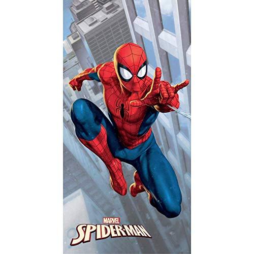 GLOBAL LICENCE SRL Telo Mare Spiderman Marvel Asciugamano in MICROCOTONE CM. 140X70 100%PL - SPI1596