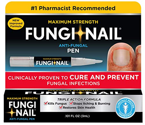 Fungi-Nail Pen Applicator Anti-Fungal Solution, 0.10 Ounce – Kills Fungus That Can Lead To Nail Fungus & Athlete's Foot Undecylenic Acid & Clinically Proven to Cure Fungal Infections