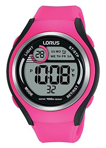 Lorus Sport Damen-Uhr Chronograph Edelstahl und Kunststoff mit Silikonband R2383LX9