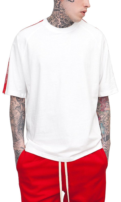 [ビヨンドユー] ビッグTシャツ Tシャツ ライン メンズ 無地 半袖 ティーシャツ アメカジ 夏