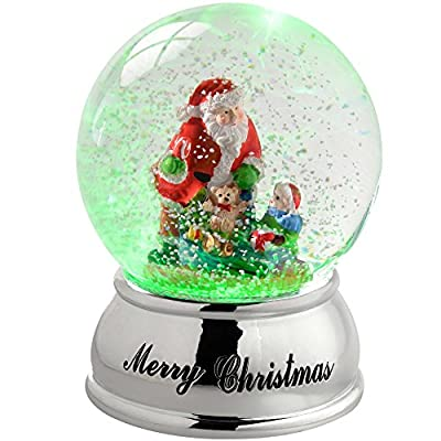Colour Changing Snow Globe Christmas Decoration 10cm