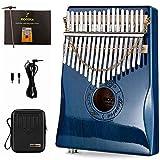Moozica 17 Keys EQ Kalimba thumb pano, marimba mbira eléctrica profesional con pastilla i...