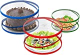 YFXOHAR Pop-Up Mesh Screen Food Cover Tents - Keep Out Flies, Bugs, Mosquitos - Reusable - Colors...