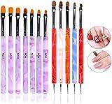 [page_title]-ANGNYA 12 PCS Nägel Pinsel UV-Gel Pinselset Gel & Acryl Nägel Nailart Gelnägel Pinsel Stifte Dotting Tool Kit für Nail Art Design Malerei Detaillierung