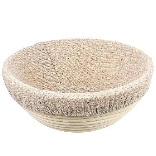 OUNONA Grkrbchen mit Tuch f¨¹r Brot und Teig Rund 20cm
