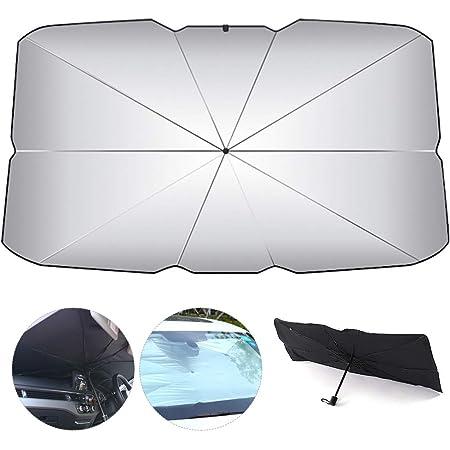 Finestrino Anteriore Auto Protezione dai Raggi UV Ombrello Protezione Parasole Pieghevole parasole per auto,Auto Parasole Ombrello 125 * 65cm