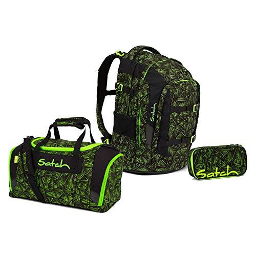 Satch Pack BTS2020 Schulrucksack Set 3tlg. (Rucksack+Etui+Sporttasche) (Green Bermuda)