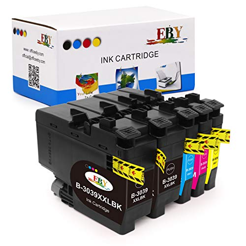 EBY Compatible Ink Cartridge Replacement 5 packs for Brother LC3037 LC3039 for Brother MFC-J5845DW MFC-J5845DW XL MFC-J5945DW MFC-J6545DW MFC-J6545DW XL MFC-J6945DW (2 Black,1 Cyan,1 Magenta,1 Yellow)
