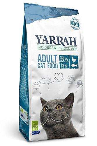 Yarrah Bio-Katzenfutter Adult Fisch - 10 kg - Für alle Katzenrassen geeignet - Ohne künstliche Zusatzstoffe, Pestizide und GVO - Mit MSC-Hering, Bio-Huhn, Erbsen und Nesseln