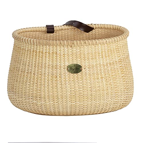 Tote & Bike Basket for Women's Beach Cruiser or Scooter Collection Adult Bicycle Basket Classic Vintage Style The Original Handmade Natural Rattan Wicker