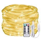 LED Lichtschlauch als Weihnachtsdeko-Afufu 13M 136er Lichterschlauch Warmweiß-Lichterkette Innen und