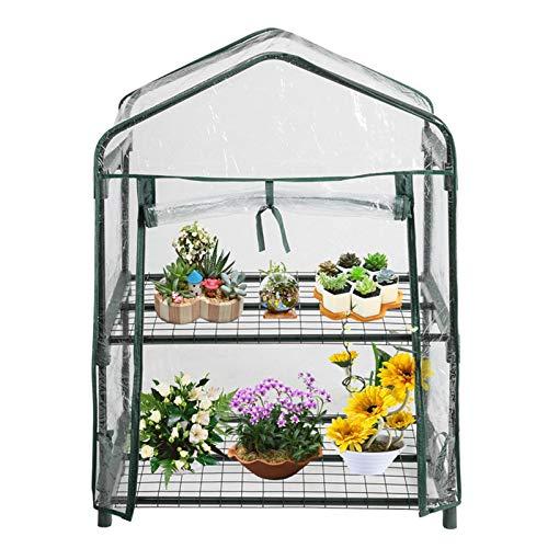 Cubierta de Invernadero de jardín, Cubierta de Invernadero Reforzada con protección UV Impermeable Quictent Se Puede Usar Directamente con un Soporte de Hierro y un Palo (Solo Cubrir)
