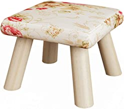 Yxsdd Stool - Sofa Stool, Home Shoe Bench, Solid Wood Living Room Small Stool Fabric Bench (Color : F, Size : 26 * 26 * 19cm)