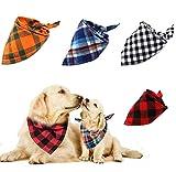 Afufu Hund Halstuch Kragen, Hundehalstücher für Hund und Katze, 4 Stück Kopftücher Haustier...