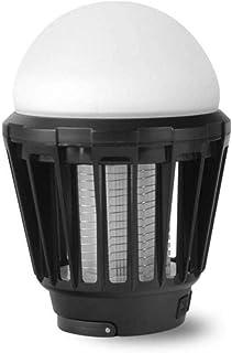 Lámpara LED Mosquito Killer Al Aire Libre Mosca portátil Mosquito Zapper Tienda de campaña USB Luz Ajustable a Prueba de Agua (Color : Negro)