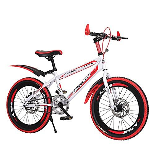 DHMKL 20/22/24 Pulgadas MTB Bici Infantiles,Bicicleta MontañA NiñOs/Freno Disco/Cuadro Acero con Alto Contenido Carbono/Asiento Ajustable/Bicicleta NiñOs/para NiñOs Mayores 6 AñOs