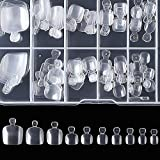 press on toenails - Fake Toenail Tips,MISMXC 100pcs with Box False Toenails Full Cover Artificial Acrylic Toe Nails Tip for DIY Salon Foot Decoration