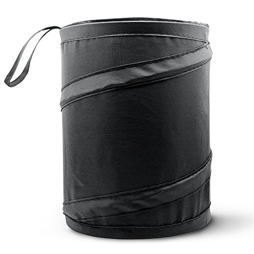 Car Trash Can, Portable Garbage Bin, Collapsible Pop-up Water Proof Bag, Waste Basket Bin, Rubbish Bin (1 Pack, Black)