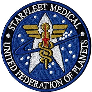 STARTREK Starfleet Medical new Design Uniform costume Iron on Patch Badge