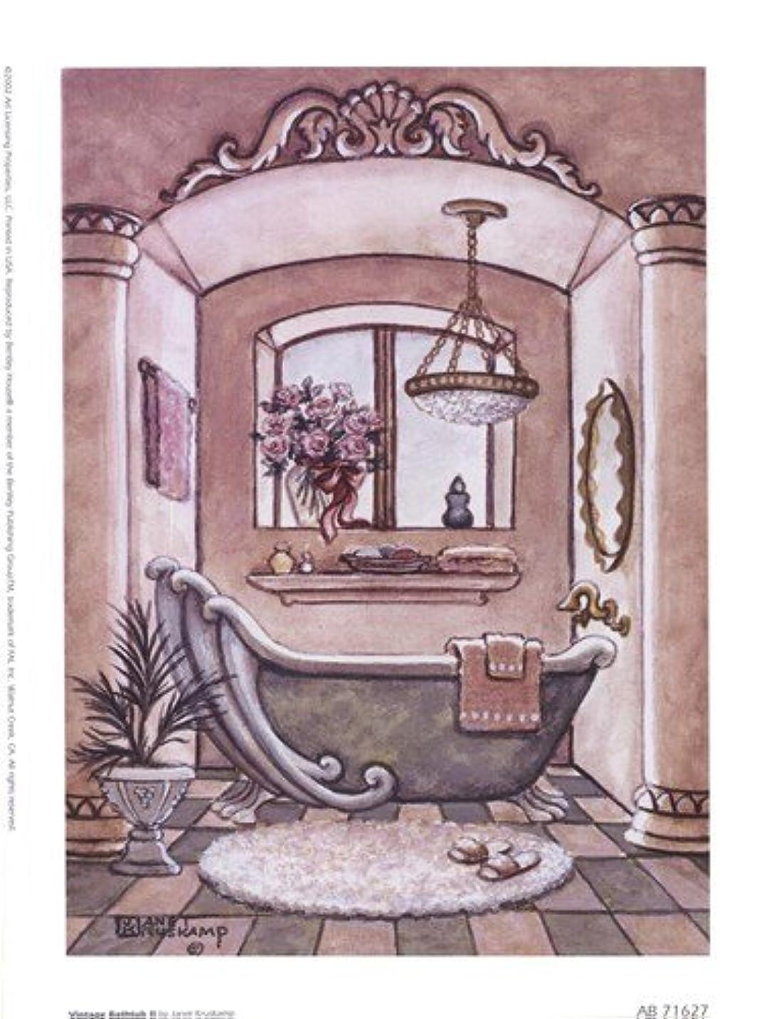 嘆く擬人極貧ヴィンテージ浴槽LL by Janet Kruskamp?–?6?x 8インチ?–?アートプリントポスター LE_66687