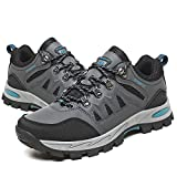 Chaussures de Randonnée Homme Femme Montantes Basses Bottes de Randonnée Respirant Antidérapants Trekking Chaussure de Marche gris Taille 43 EU