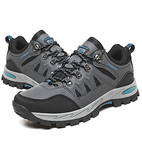 Zapatillas Trekking Hombre Mujer Zapatillas de Senderismo Transpirable Montaña Botas de Senderismo Hombre Antideslizante Caminar Gris 44 EU