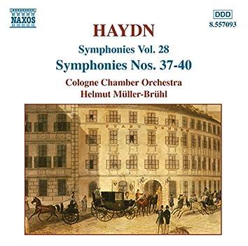 Haydn: Symphonies, Vol. 28 (Nos. 37, 38, 39, 40)
