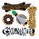 Toozey 5 Paquete de Juguetes con Sonido para Perros, Sin Relleno y Rellenos - Juguetes para Masticar Perros Seguros y No Tóxicos para Pequeños Medianos