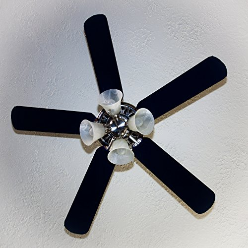 Fancy Blade Ceiling Fan Accessories Blade Cover Decoration, Solid (Navy Blue)