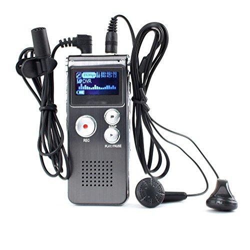 Digitales Aufnahmegerät OLED 8GB USB MP3Player Dict ¨ ¢ Fono