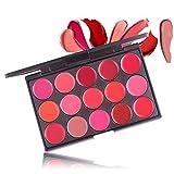Shogpon 15 Colores Paleta de Brillo Labial Crema Mate Lápiz Labial Maquillaje Cosemético Kit Belleza Set - Perfecto para Uso Profesional y Diario