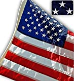 US Flag Factory - 2.5x4 FT US AMERICAN FLAG (Embroidered Stars, Sewn Stripes) Outdoor SolarMax Nylon...