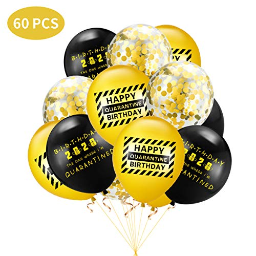 MOLECOLE Quarantine Birthday Party Decorations with Quarantine Banner Balloons Happy Quarantine Toppers Party Decorations Stay at Home Party Supplies for Kids Girls Baby