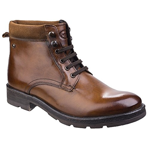 Base London Mens Panzer Washed Leather Lace Up Trendy Work Ankle Boots