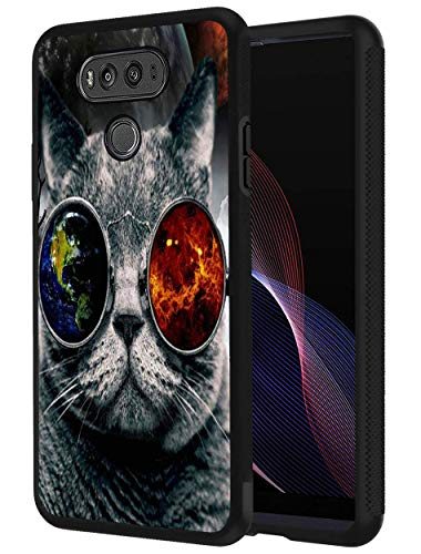 LG V20 Case, Fashion Cat with Sunglasses, Slim Anti-Scratch Shockproof Silicone TPU Protective Cover for LG V20