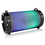 SereneLife Portable Wireless Bluetooth Boombox Stereo Speaker & FM Radio System for iPhone & PC with...