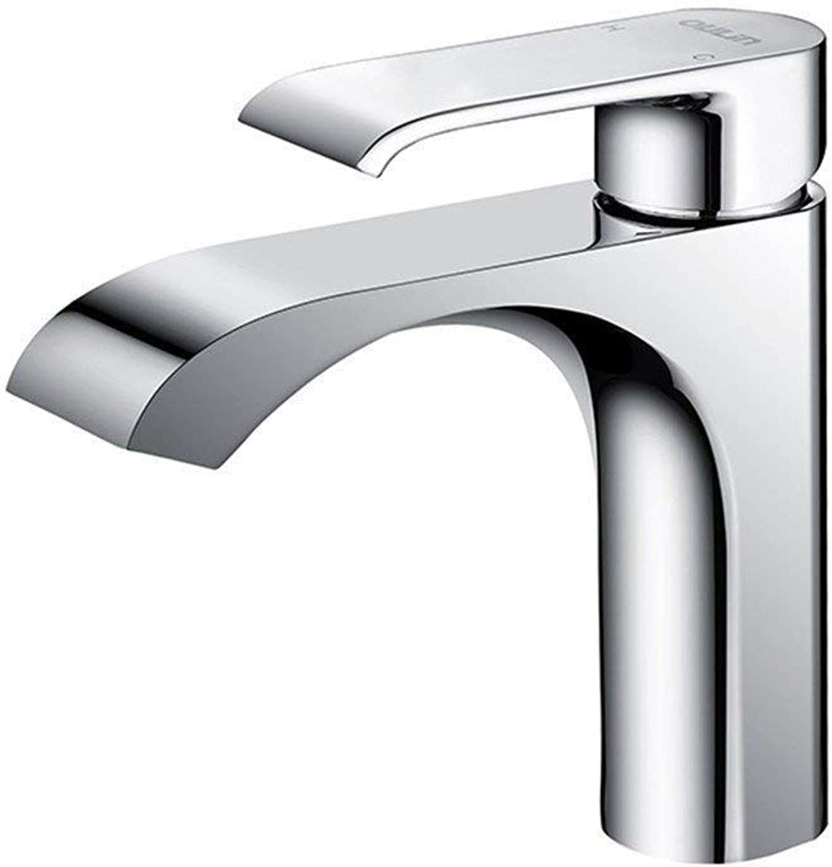 Oudan Washbasin, Faucet, Hot and Cold Washroom, Washbasin, Faucet, Basin, Tap, Square, Etc. (color   -, Size   -)