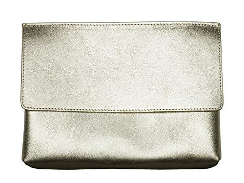 Olympus Pen - Bolso de Mano, diseño Holy Goldie (colección Elegante), Color Plata