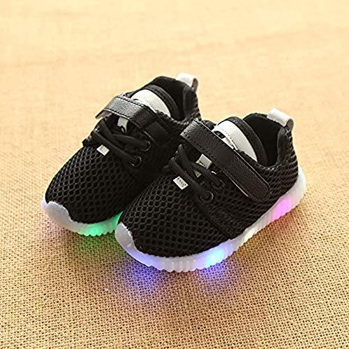 Pzpgeq Kinder Sportschuhe LED Licht Terminal AntiLight Boy Girl Laufen Sommer Kinderschuhe Netzwerk Schuhe Kinder Ich mag