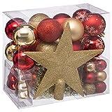 Kit de bolas de navidad 44 piezas